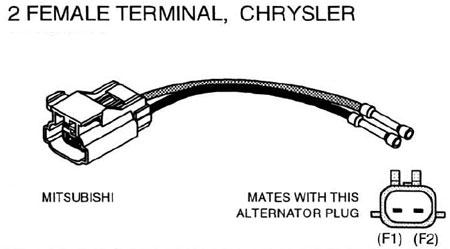 chrysler mitsubishi alternator repair connector 2 wire. Black Bedroom Furniture Sets. Home Design Ideas